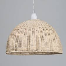 ceiling light shades wicker