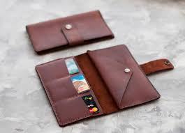 leather travel wallet leather wallet men