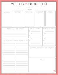 Weekly To Do Calendar Template To Do List Sheet Barca Fontanacountryinn Com