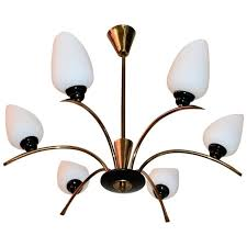 beautiful french mid century chandelier attributed to maison arlus for