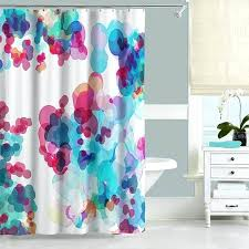 pink and teal shower curtain watercolor shower curtain in blue pink and turquoise here to