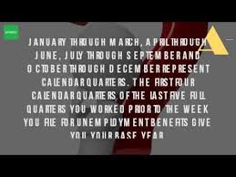 Calendar Quarters What Are The Quarters Of The Year For Unemployment Youtube