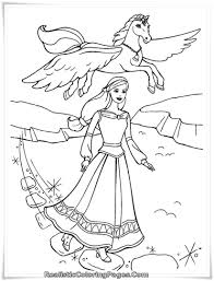 Barbie Coloring Page Barbie And Magic