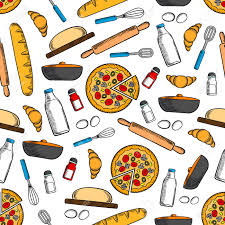 cooking utensils wallpaper. Unique Cooking Cooking And Kitchen Utensils Seamless Background Wallpaper With Vector  Pattern Icons Of Pizza Bread Inside Utensils T