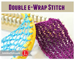 Loom Knit Patterns Inspiration Loom Knit Stitches Directory Of FREE Patterns With Video