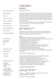 Management Cv Template Managers Jobs Director Project Management