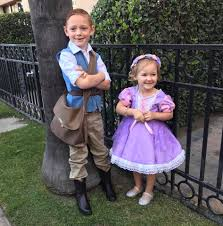 these rapunzel and flynn rider kids costumes are simply amazing