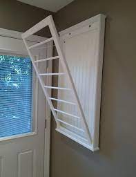 wall mounted clothes drying rack wall