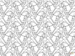 Horseman Tessellation By M Escher Coloring