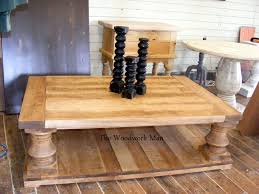 chunky wooden coffee table legs