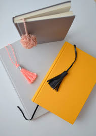 diy office gifts. DIY Gift For The Office - Tassel And Pom Notebooks- Ideas Diy Gifts