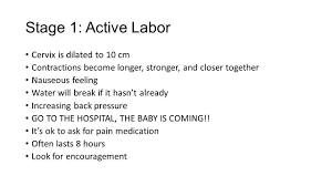 The First Stage Of Labor And How To Deal With It The