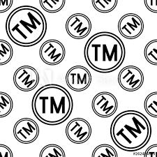 Tm Trademark Symbol Tm Trademark Symbol Icon Seamless Pattern Tm Symbol