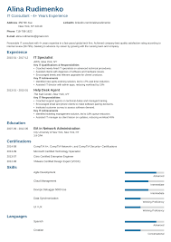 It Resumes Templates Information Technology It Resume Examples For 2019