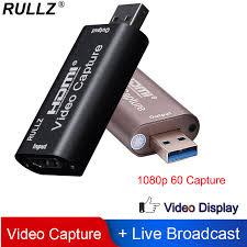 <b>Rullz 4K Video Capture</b> Card USB 3.0 2.0 HDMI Video Grabber ...