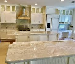 kitchen design with white granite countertops