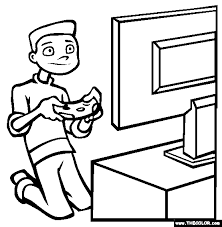 Small Picture Video Games Coloring Page Free Video Games Online Coloring