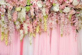 Wedding Photo Background Us 5 85 35 Off Wedding Backdrop Flowers Wall Photography Background Birthday Party Baby Shower Decor Banner Floral Photo Backdrop Props Xt 6740 In