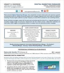 Digital Resume Templates Digital Marketing Resume 7 Free Word Pdf Documents