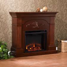 southern enterprises oliver 44 75 in freestanding electric fireplace in mahogany