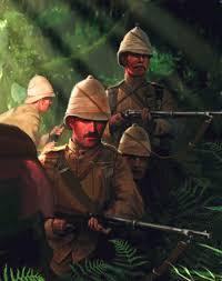 British infantry patrol   Military illustration, Military art, Ancient war