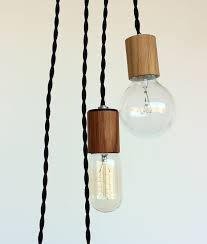 wood veneered pendant light with 12 cord plug by onefortythree pertaining to in designs 5