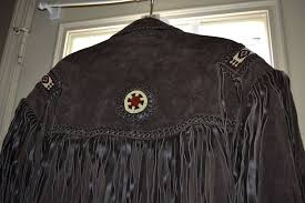 scully men s fringe leather coat western brown boar suede hand laced