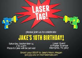 Free Laser Tag Invitation Template Laser Tag Invitations Free Glow Birthday Party Invitations Printable