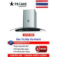 Máy hút mùi kính cong 90cm Pramie AP15-900 nhập khẩu Thái Lan