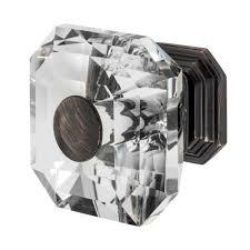 square glass cabinet knobs. Oil Rubbed Bronze With Clear Crystal Cabinet Knob Square Glass Knobs E