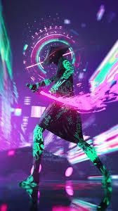 Cyberpunk Neon Sword
