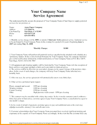 Customer Support Agreement Template Commercial Cleaning Contract