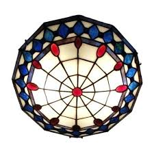 tiffany ceiling lights stained glass blue pattern inch flush mount ceiling light in stained glass style tiffany ceiling lights stained glass