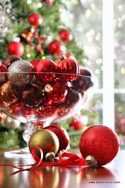 Christmas Decorative Bowls Christmas Table Decorations Baubles in a Vase or Bowl Be A Fun Mum 2