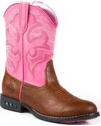 Roper Girls Lightning Light Up Western Boots