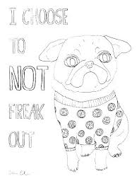 Printable Pug Dog Coloring Pages Page Precious Inspirational Free