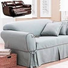 couch covers with recliners. Exellent With Reclining SOFA Slipcover Blue Texture Adapted For Dual Recliner Couch Throughout Covers With Recliners