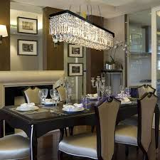 impressive rectangular crystal chandelier dining room modern dining room crystal chandeliers