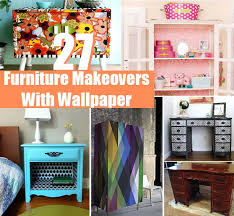 diy furniture makeovers. 27 Cool DIY Furniture Makeovers With Wallpaper Diy
