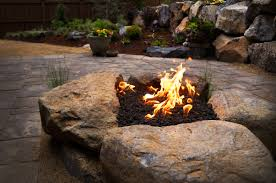 paver patio with gas fire pit. Beautiful Pit Paver Patio U0026 Gas Fire Pit In NW Bend Oregon Throughout With