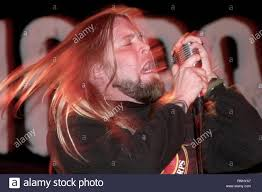 """Drowning Pool lead singer Ryan McCombs is shown performing during a """"live""""  concert appearance Stock Photo - Alamy"""