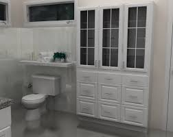 image of bathroom ikea linen cabinet