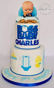 Boss Baby Two Tiers 1st Birthday Cake