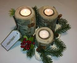 Portacandele decorazioni natalizie con addobbi di natale
