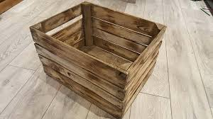 1 x vintage rustic wooden apple crates ideal storage boxes box display crate bookshelf idea small