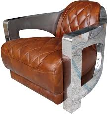 casa padrino genuine leather club armchair brown silver 75 x 89 x h 70 cm luxury quality genuine leather furniture armchairs