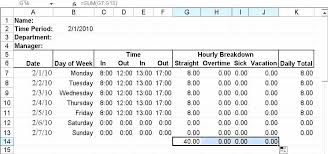 Timesheet Formulas In Excel Timecard In Excel With Formulas It Excel Formulas Timesheet Download