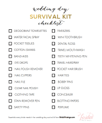 on the big day be sure to p your survival kit over to your maid of honor for safekeeping and emergency touch ups