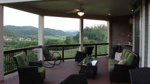 united states partially covered deck craftsman with outdoor ceiling fan porch