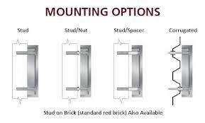 aluminum mounting options